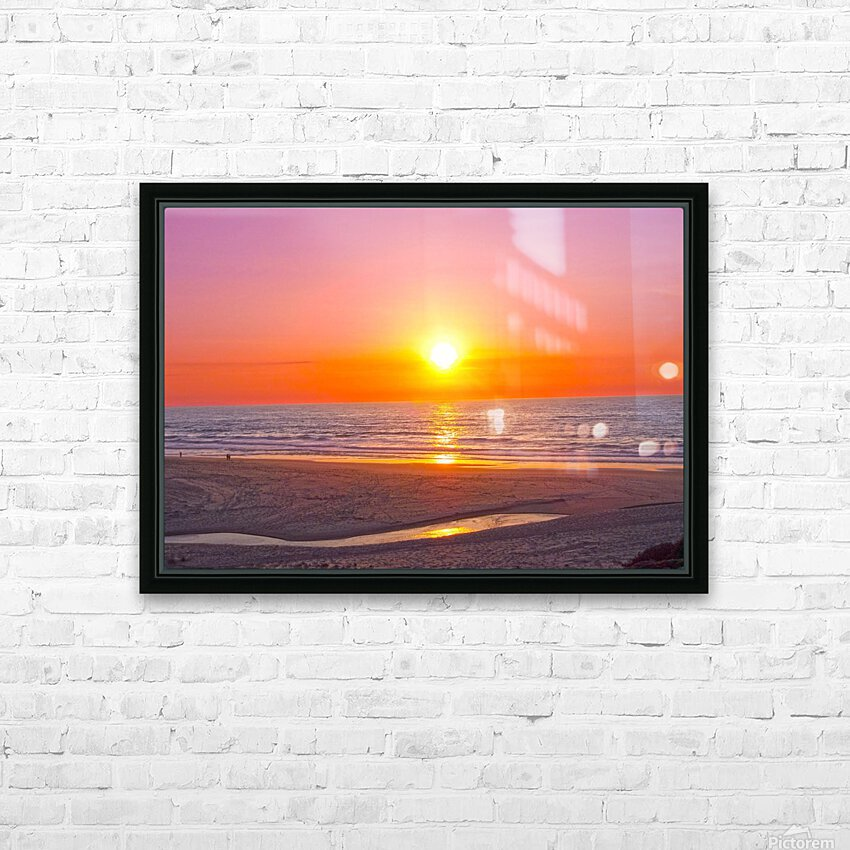 Serenity Found - Calming Atlantic Sunset in Portugal HD Sublimation Metal print with Decorating Float Frame (BOX)