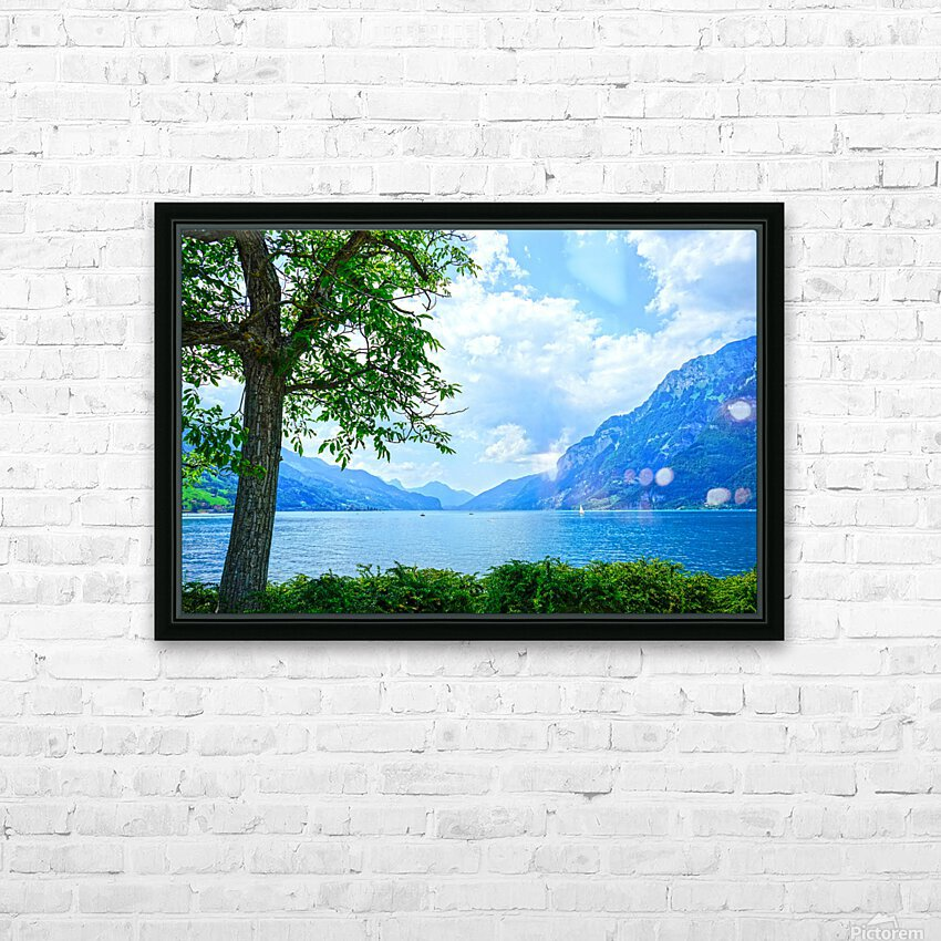 Snapshot in Time Walensee - Lake Walen Switzerland 3 of 3 HD Sublimation Metal print with Decorating Float Frame (BOX)