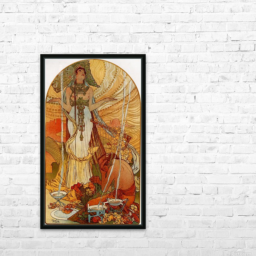 Salammbo by Alphonse Mucha HD Sublimation Metal print with Decorating Float Frame (BOX)