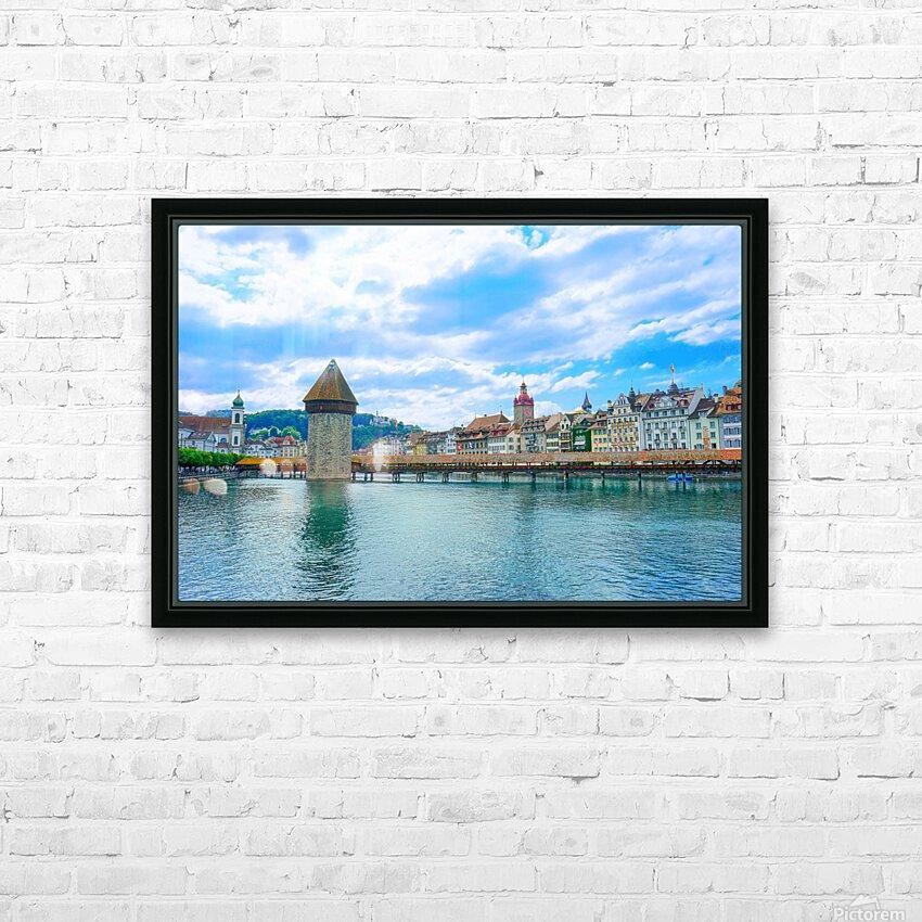 Chapel Bridge   Lucerne Switzerland HD Sublimation Metal print with Decorating Float Frame (BOX)