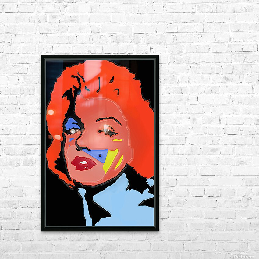 Marilyn in full color HD Sublimation Metal print with Decorating Float Frame (BOX)
