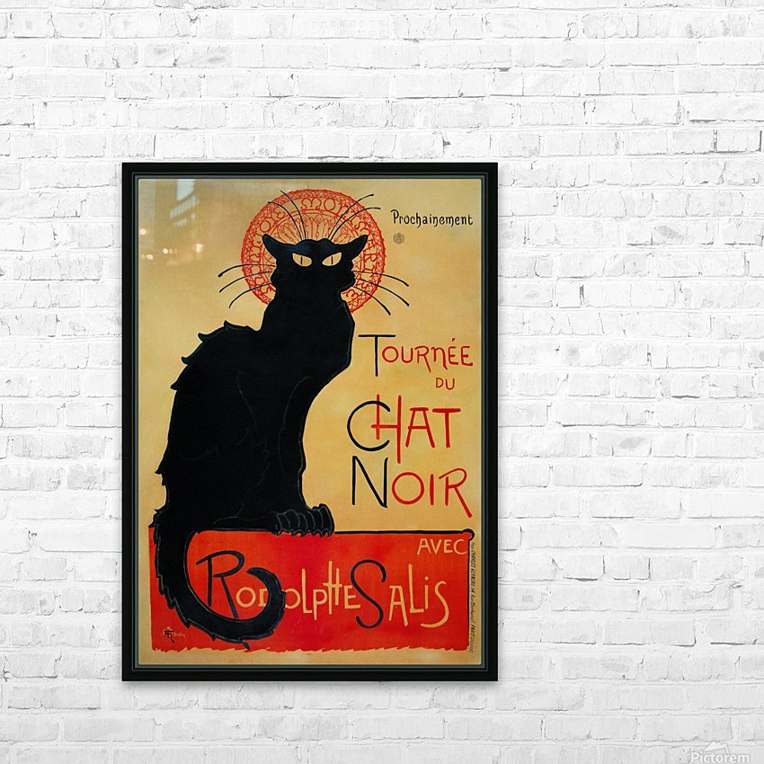 Theophile Steinlen - Tournee du Chat Noir HD Sublimation Metal print with Decorating Float Frame (BOX)