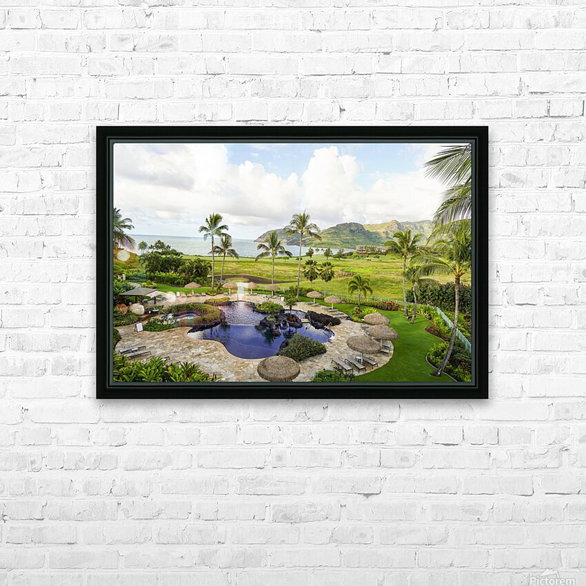 Welcome to Paradise   Kauai Hawaii HD Sublimation Metal print with Decorating Float Frame (BOX)