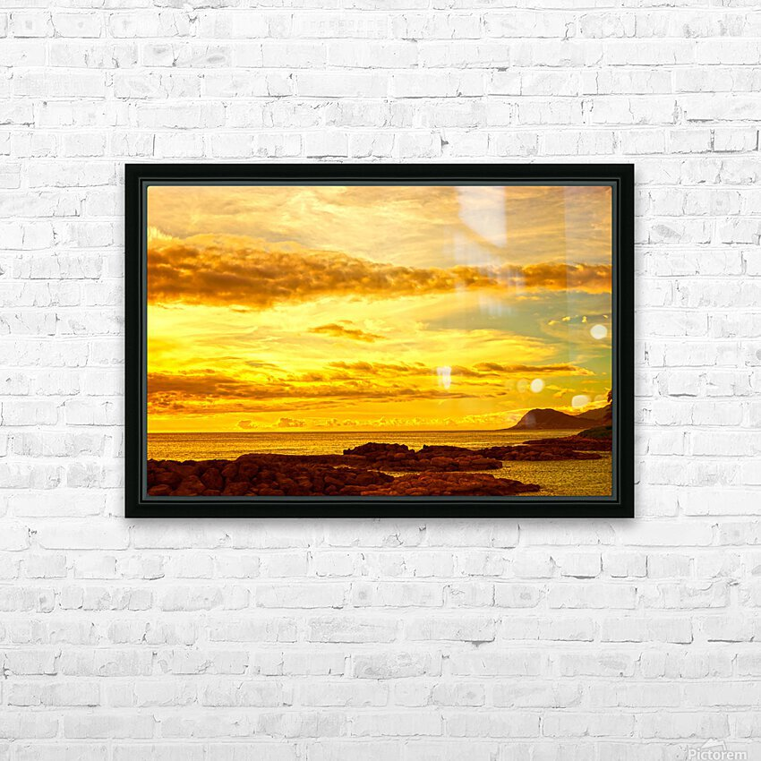 Sunset in Paradise   South Seas HD Sublimation Metal print with Decorating Float Frame (BOX)