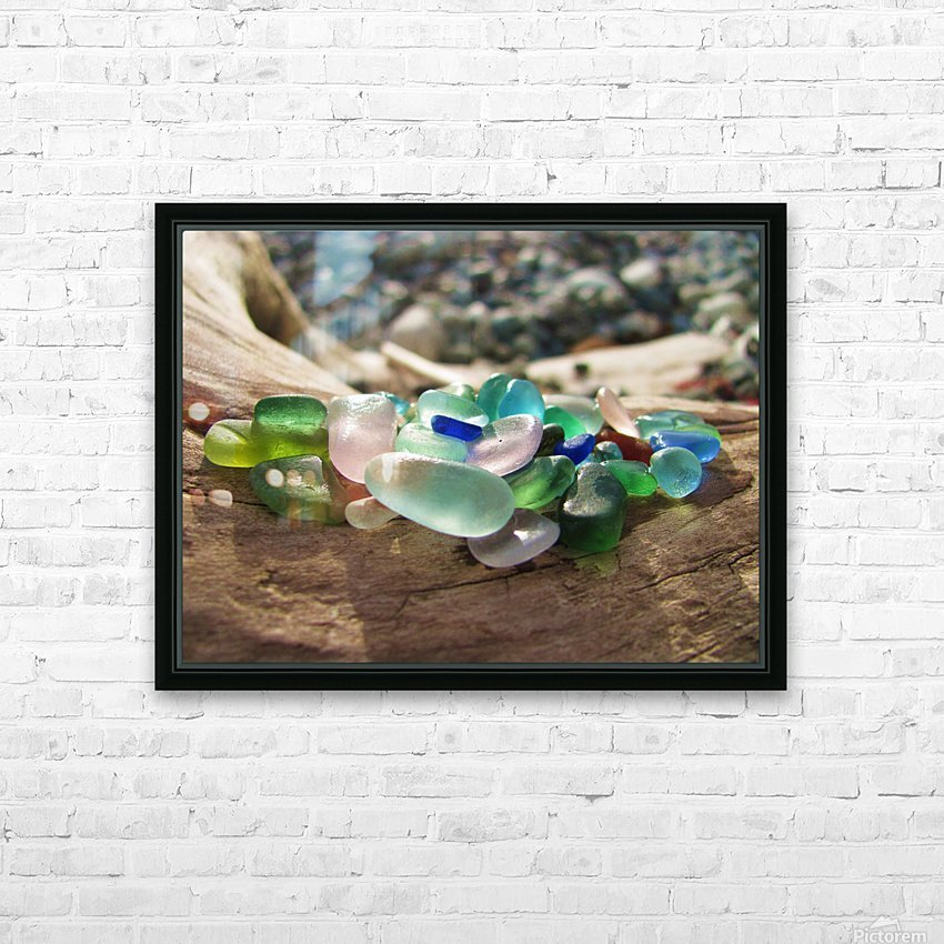 Sea Glass Colors HD Sublimation Metal print with Decorating Float Frame (BOX)