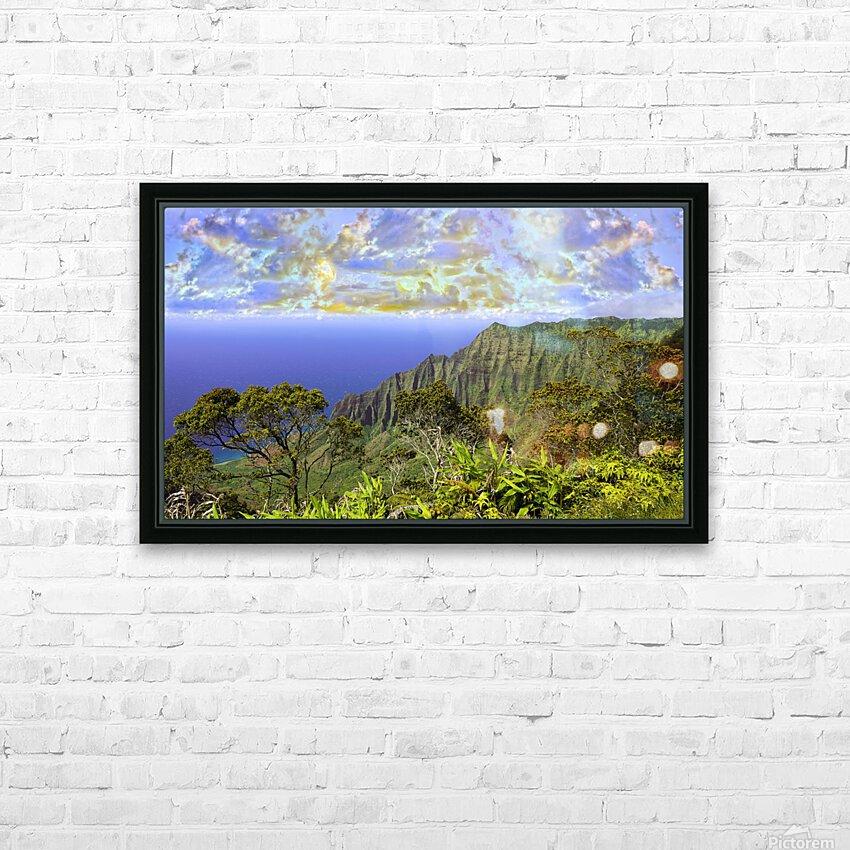 Sunset at Puu O Kila Lookout Kohala Mountains on the Island of Kauai in Hawaii Panorama HD Sublimation Metal print with Decorating Float Frame (BOX)