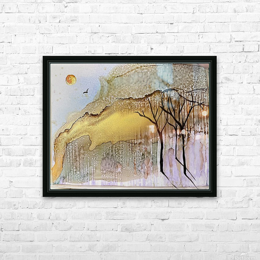 Golden Hour HD Sublimation Metal print with Decorating Float Frame (BOX)