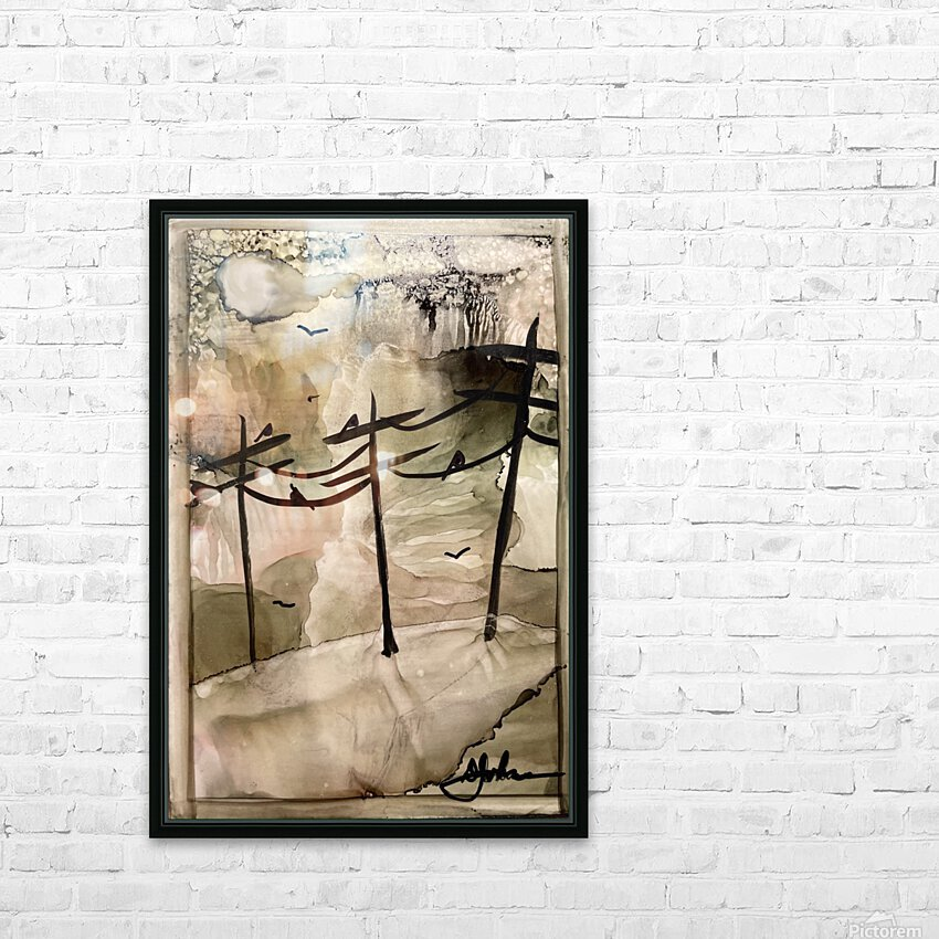Telephone Pole Perches HD Sublimation Metal print with Decorating Float Frame (BOX)