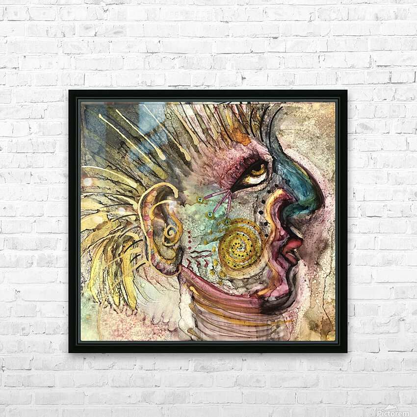 Shaman HD Sublimation Metal print with Decorating Float Frame (BOX)