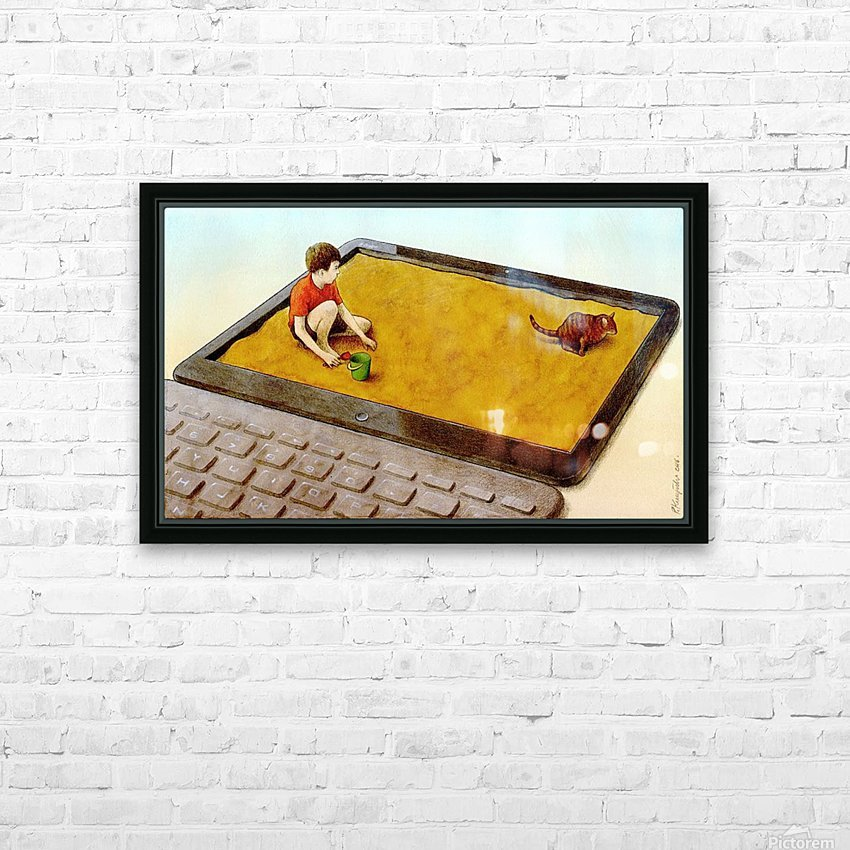 hater HD Sublimation Metal print with Decorating Float Frame (BOX)
