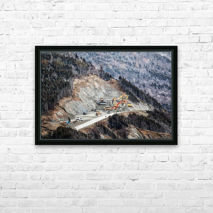 Mountain Moving HD Sublimation Metal print with Decorating Float Frame (BOX)