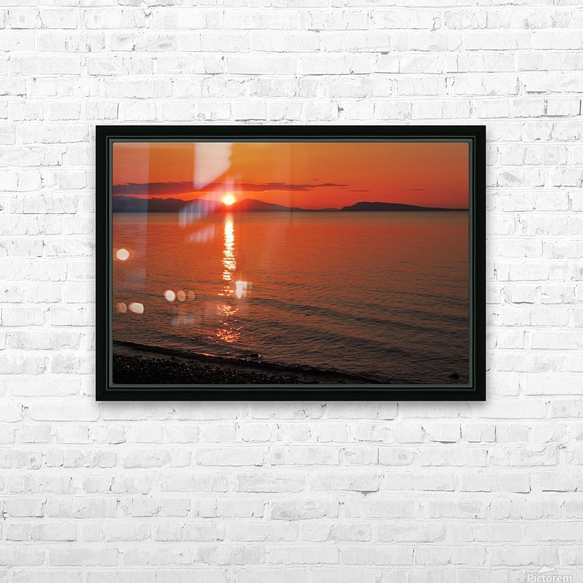 Qualicum Beach Sunset HD Sublimation Metal print with Decorating Float Frame (BOX)