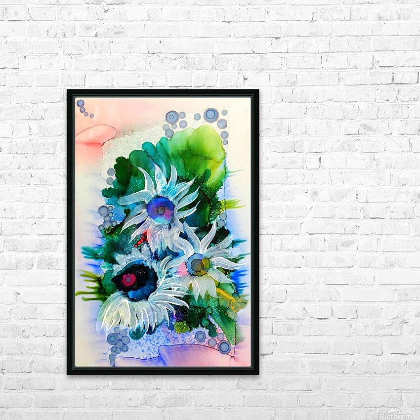 Floral Burst HD Sublimation Metal print with Decorating Float Frame (BOX)