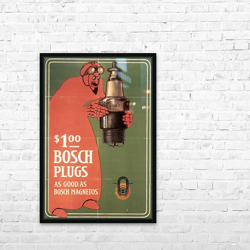 Vintage Bosch Spark Plugs Advertising Poster HD Sublimation Metal print with Decorating Float Frame (BOX)
