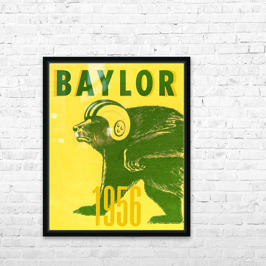 1956 Baylor Bears Vintage Football Art Remix HD Sublimation Metal print with Decorating Float Frame (BOX)