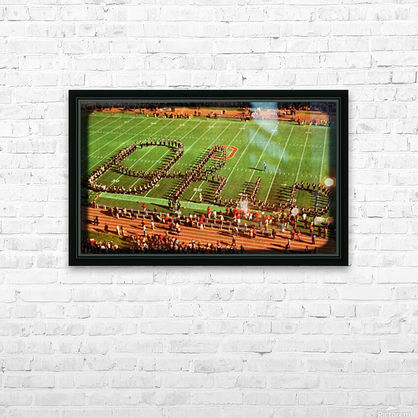 1978 Ohio State Marching Band Art HD Sublimation Metal print with Decorating Float Frame (BOX)