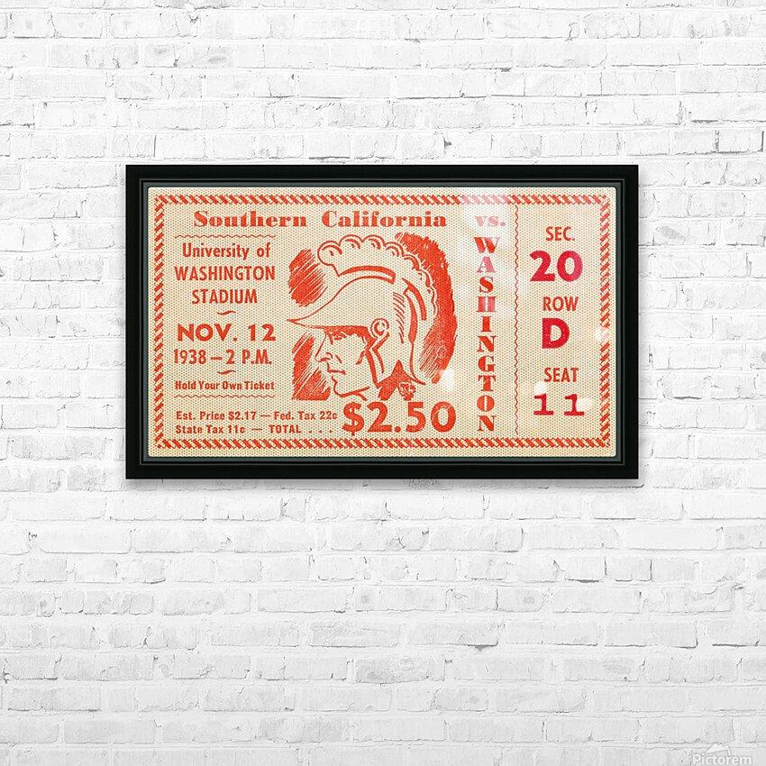1938 USC Trojans vs. Washington Huskies HD Sublimation Metal print with Decorating Float Frame (BOX)
