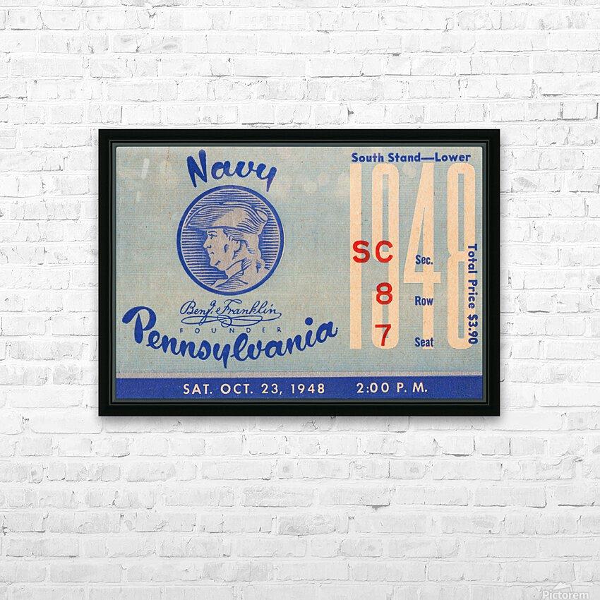 1948 Penn Quakers vs. Navy Midshipmen HD Sublimation Metal print with Decorating Float Frame (BOX)