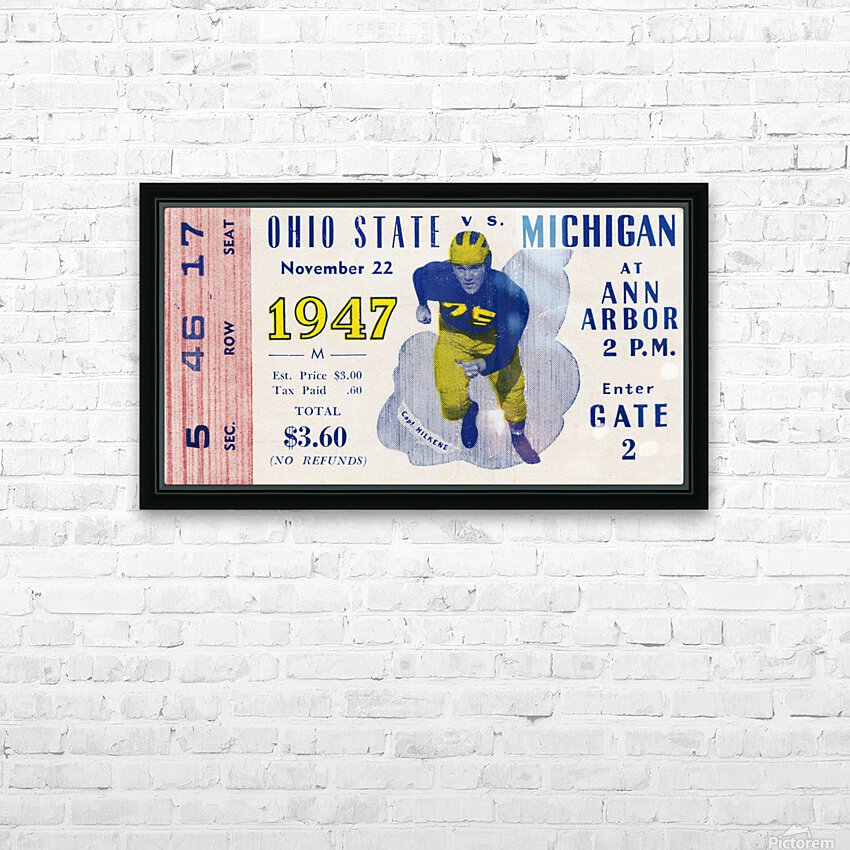 1947 Michigan Wolverines vs. Ohio State Buckeyes HD Sublimation Metal print with Decorating Float Frame (BOX)