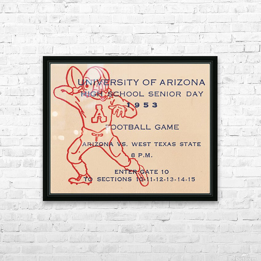 1953 Arizona Wildcats vs. West Texas State  HD Sublimation Metal print with Decorating Float Frame (BOX)