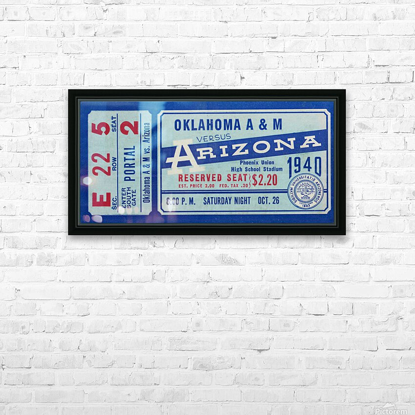 1940 Arizona Wildcats vs. Oklahoma A&M Aggies HD Sublimation Metal print with Decorating Float Frame (BOX)