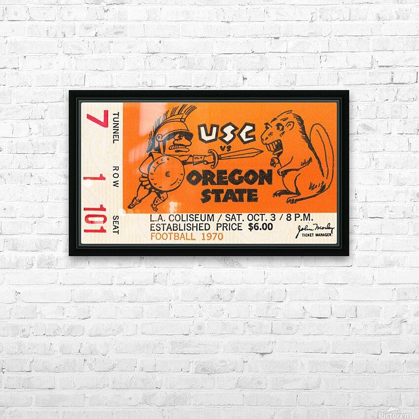 1970 USC Trojans vs. Oregon State Beavers HD Sublimation Metal print with Decorating Float Frame (BOX)