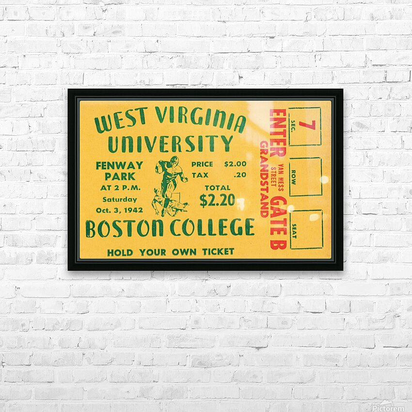 1942 Boston College Eagles vs. West Virginia Mountaineers HD Sublimation Metal print with Decorating Float Frame (BOX)