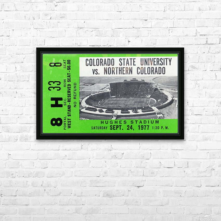 1977 Colorado State Rams vs. Northern Colorado HD Sublimation Metal print with Decorating Float Frame (BOX)