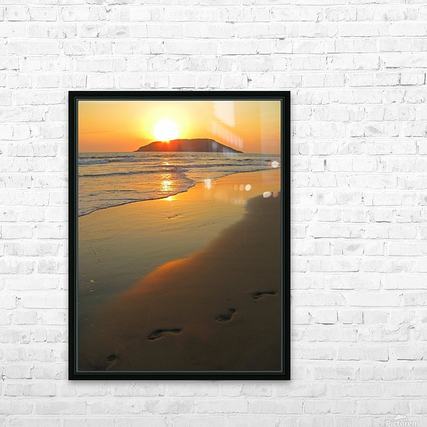 Footprints in the Sand HD Sublimation Metal print with Decorating Float Frame (BOX)