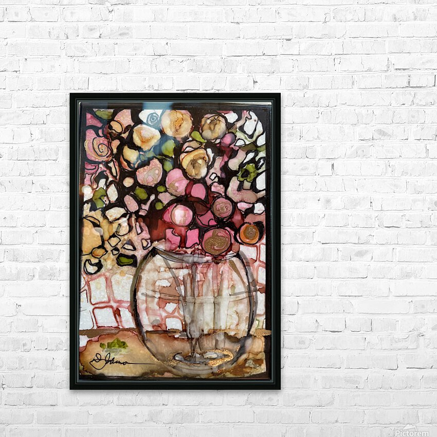 Floral Fun HD Sublimation Metal print with Decorating Float Frame (BOX)