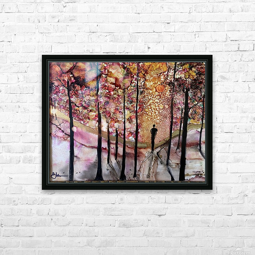 The Wanderer HD Sublimation Metal print with Decorating Float Frame (BOX)