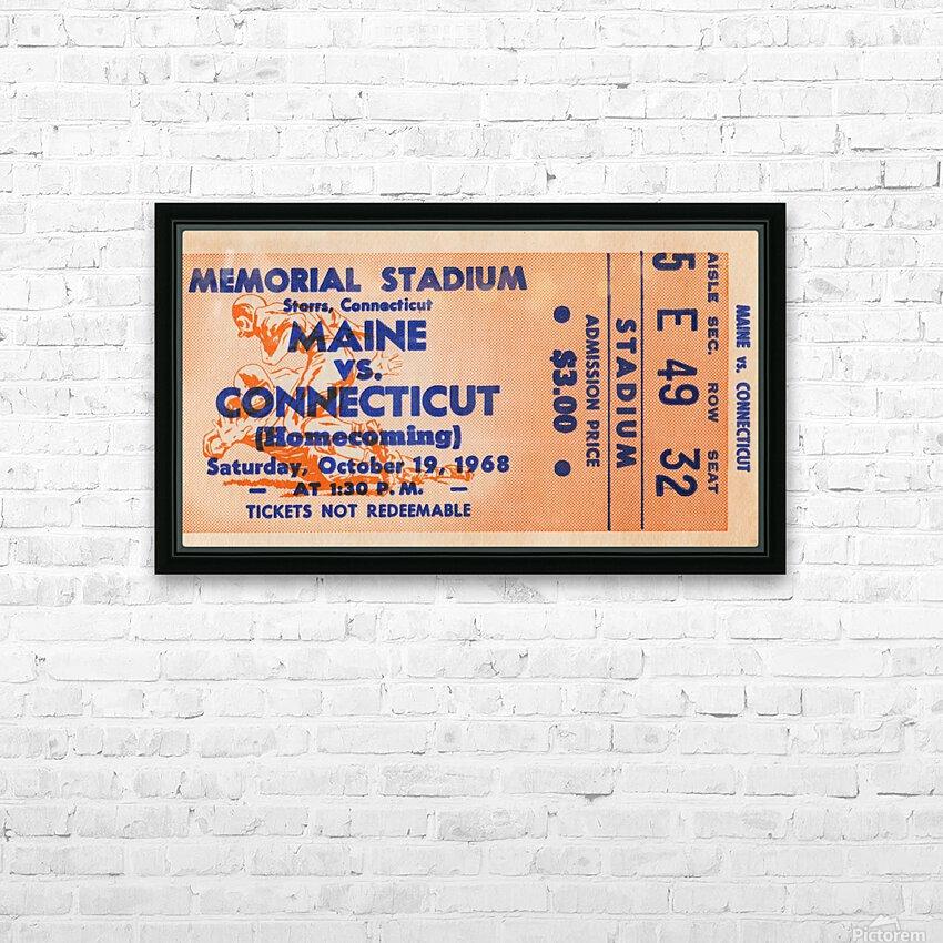 1968 Maine Black Bears vs. UConn Huskies HD Sublimation Metal print with Decorating Float Frame (BOX)