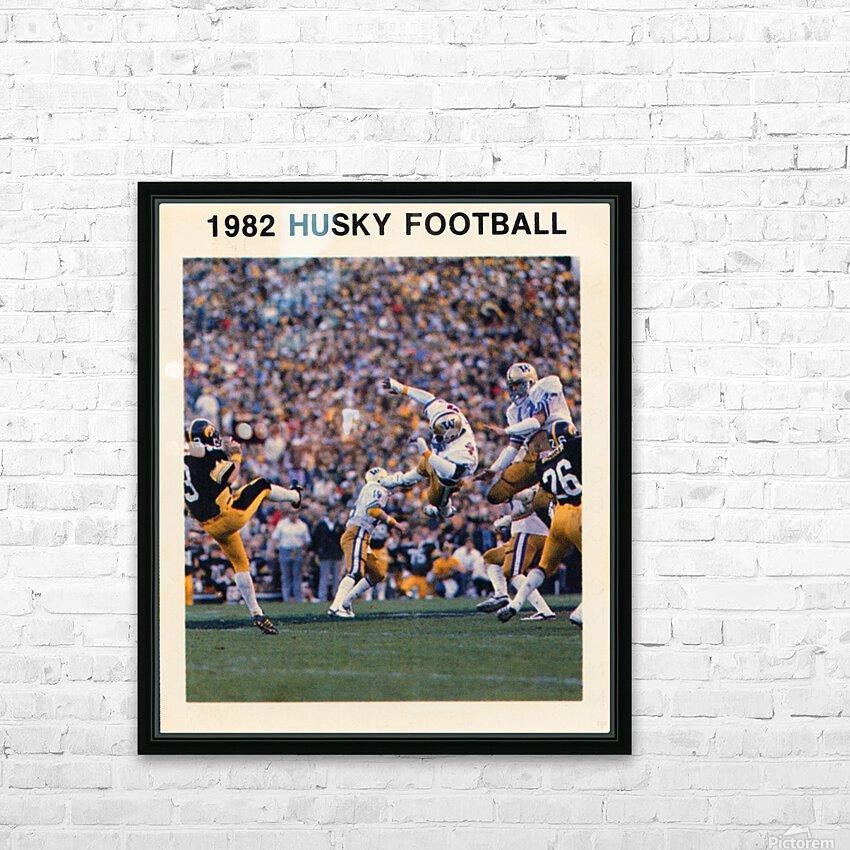 1982 Washington Husky Football Poster HD Sublimation Metal print with Decorating Float Frame (BOX)
