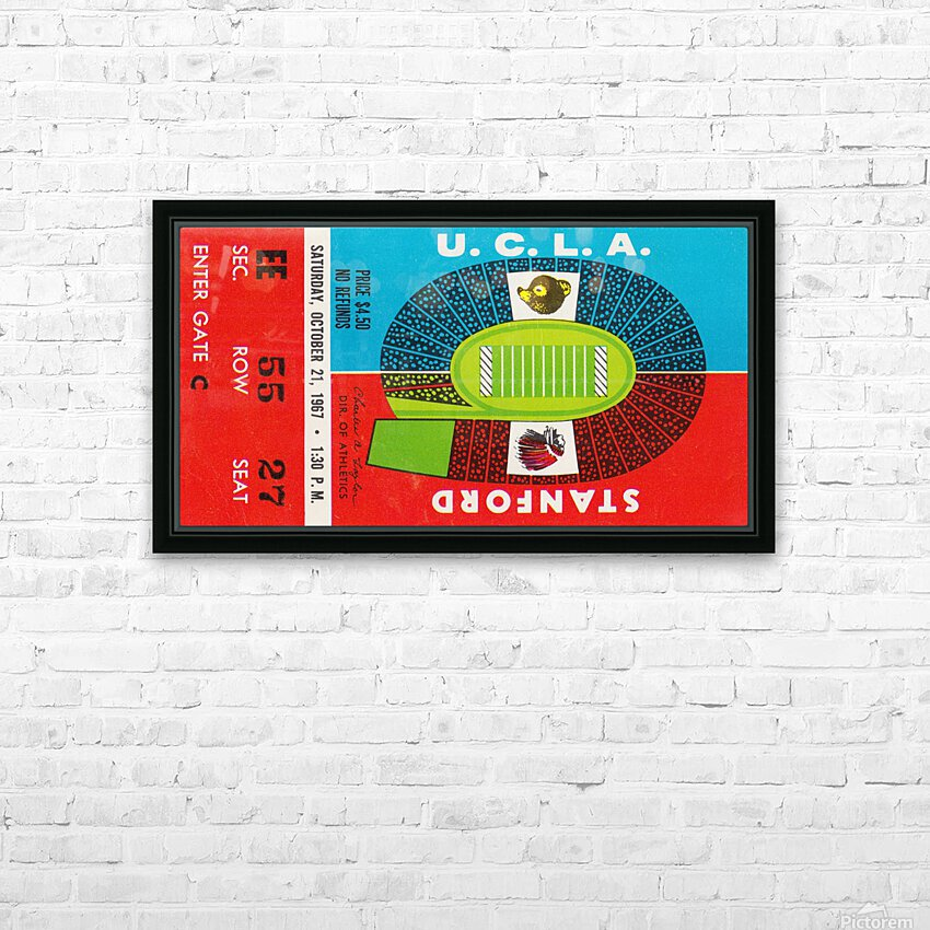 1967 UCLA Bruins vs. Stanford Indians HD Sublimation Metal print with Decorating Float Frame (BOX)