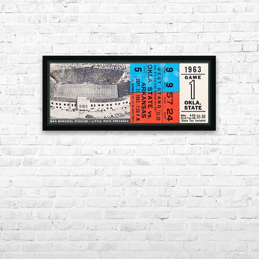 1963 Arkansas Razorbacks vs. Oklahoma State Cowboys HD Sublimation Metal print with Decorating Float Frame (BOX)