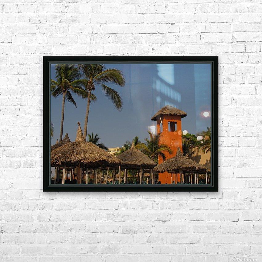 Mazatlan Resort HD Sublimation Metal print with Decorating Float Frame (BOX)