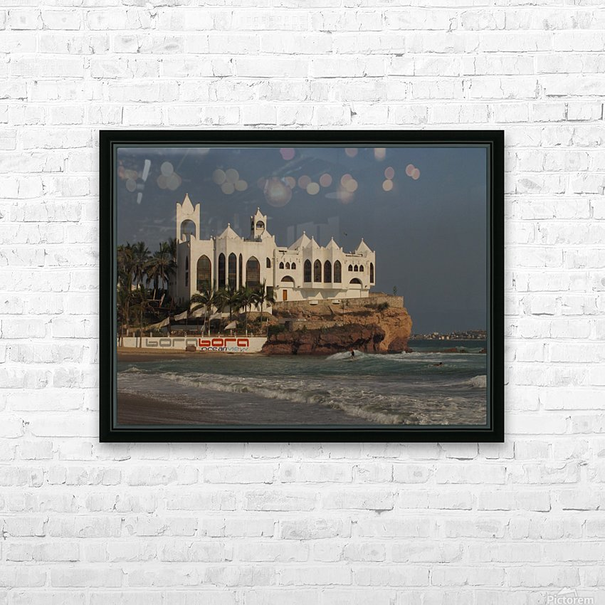 White Castle HD Sublimation Metal print with Decorating Float Frame (BOX)
