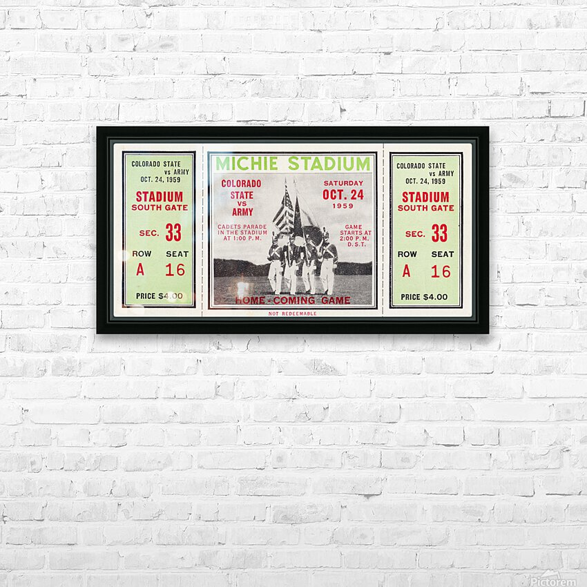 1959 Colorado State Rams vs. Army Cadets HD Sublimation Metal print with Decorating Float Frame (BOX)