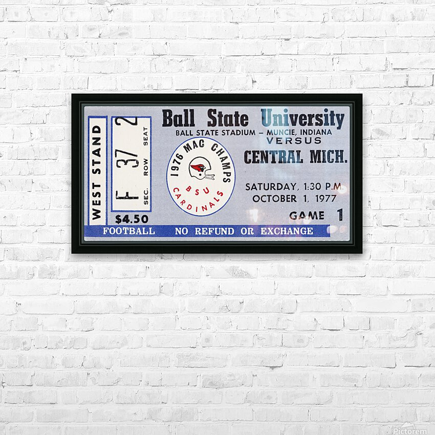 1977 Ball State Cardinals vs. Central Michigan Chippewas HD Sublimation Metal print with Decorating Float Frame (BOX)