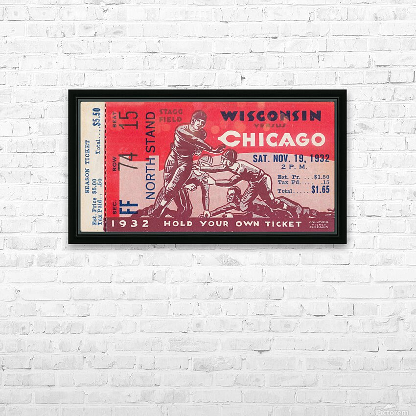 1932 Wisconsin Badgers vs. Chicago Maroons HD Sublimation Metal print with Decorating Float Frame (BOX)