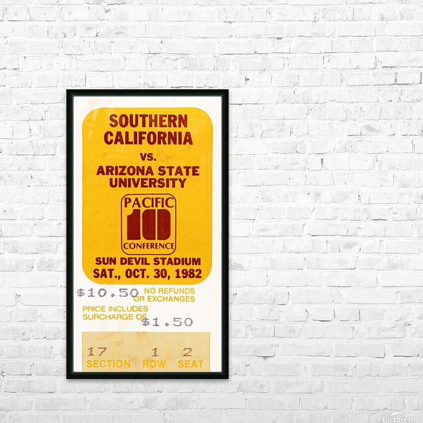 1982 USC vs. Arizona State Football Ticket Art HD Sublimation Metal print with Decorating Float Frame (BOX)