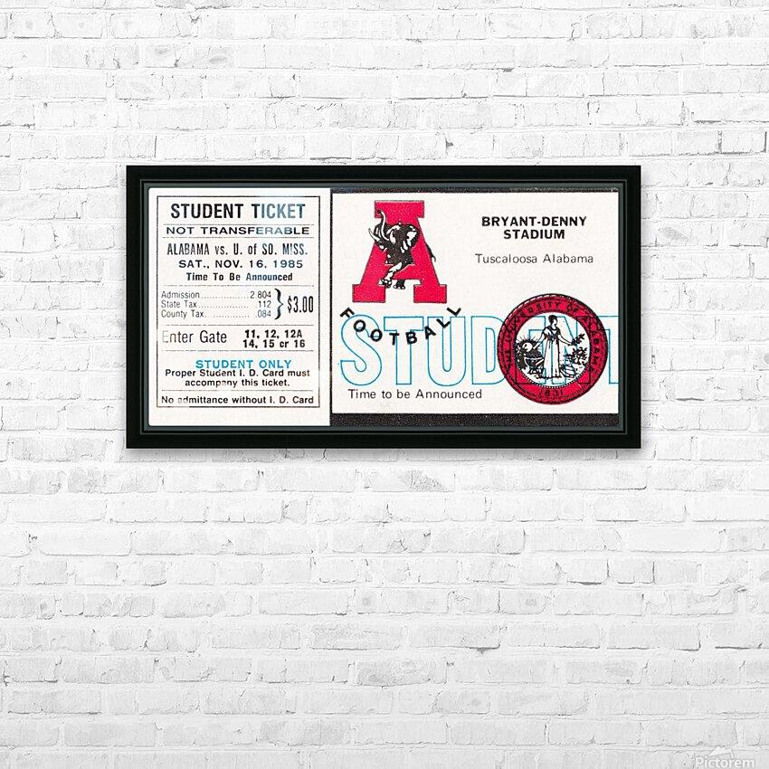 1985 Alabama Crimson Tide vs. Southern Miss Golden Eagles HD Sublimation Metal print with Decorating Float Frame (BOX)