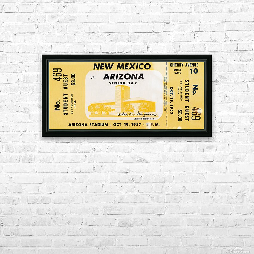 1957 Arizona Wildcats vs. New Mexico Lobos HD Sublimation Metal print with Decorating Float Frame (BOX)