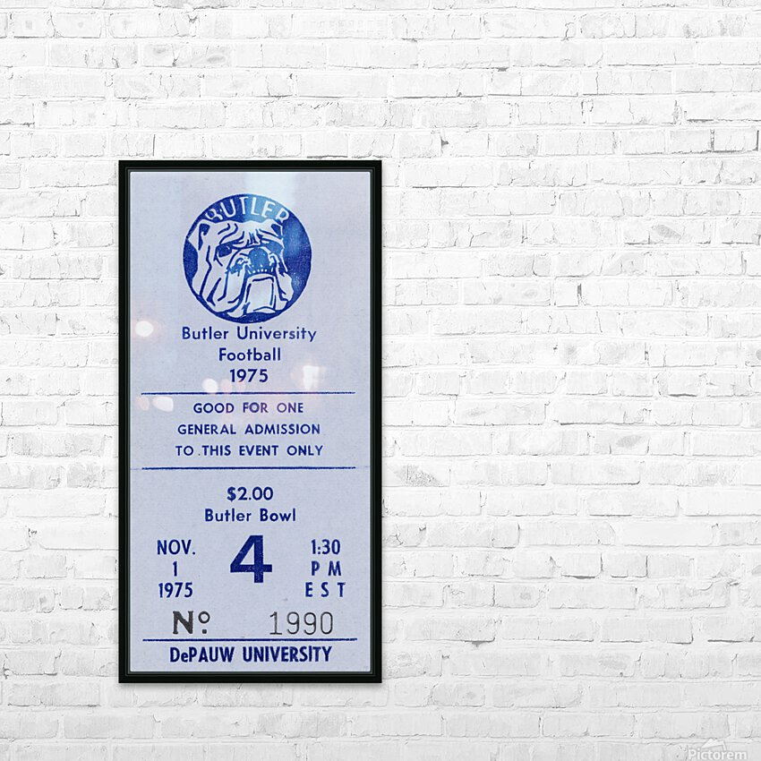 1975 Butler Bulldogs vs. DePauw HD Sublimation Metal print with Decorating Float Frame (BOX)