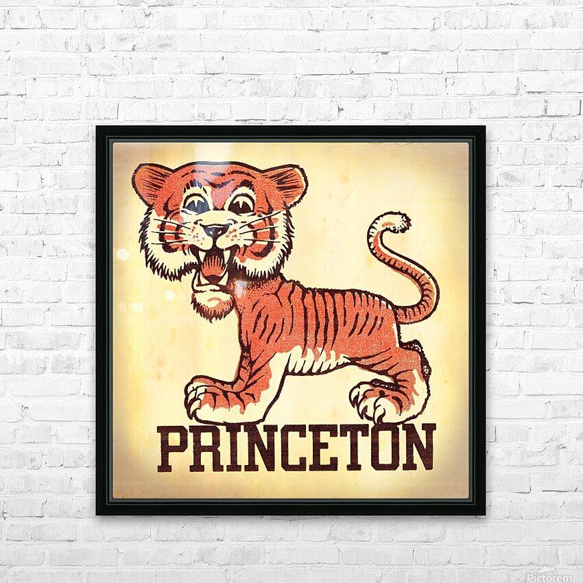 Vintage Fifties Princeton Tiger Remix Art HD Sublimation Metal print with Decorating Float Frame (BOX)