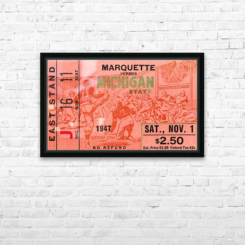 1947 Michigan State Spartans vs. Marquette Hilltoppers  HD Sublimation Metal print with Decorating Float Frame (BOX)