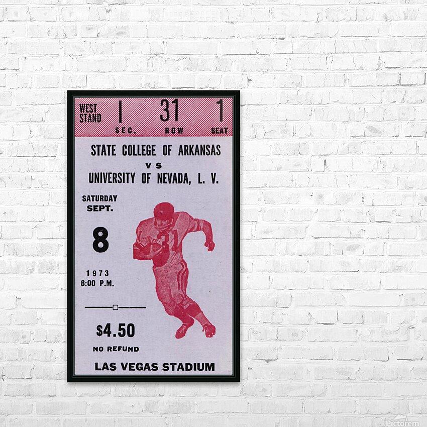 1973 UNLV Rebels vs. Central Arkansas Bears Football Ticket Art HD Sublimation Metal print with Decorating Float Frame (BOX)