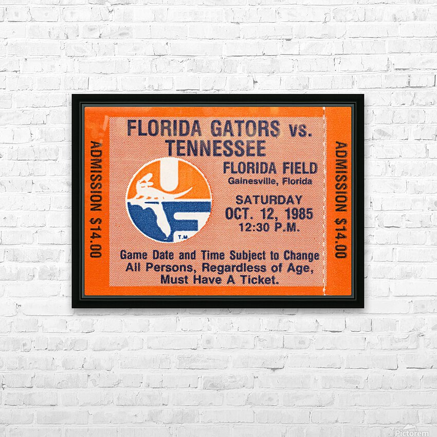 1985 Florida Gators vs. Tennessee Vols HD Sublimation Metal print with Decorating Float Frame (BOX)