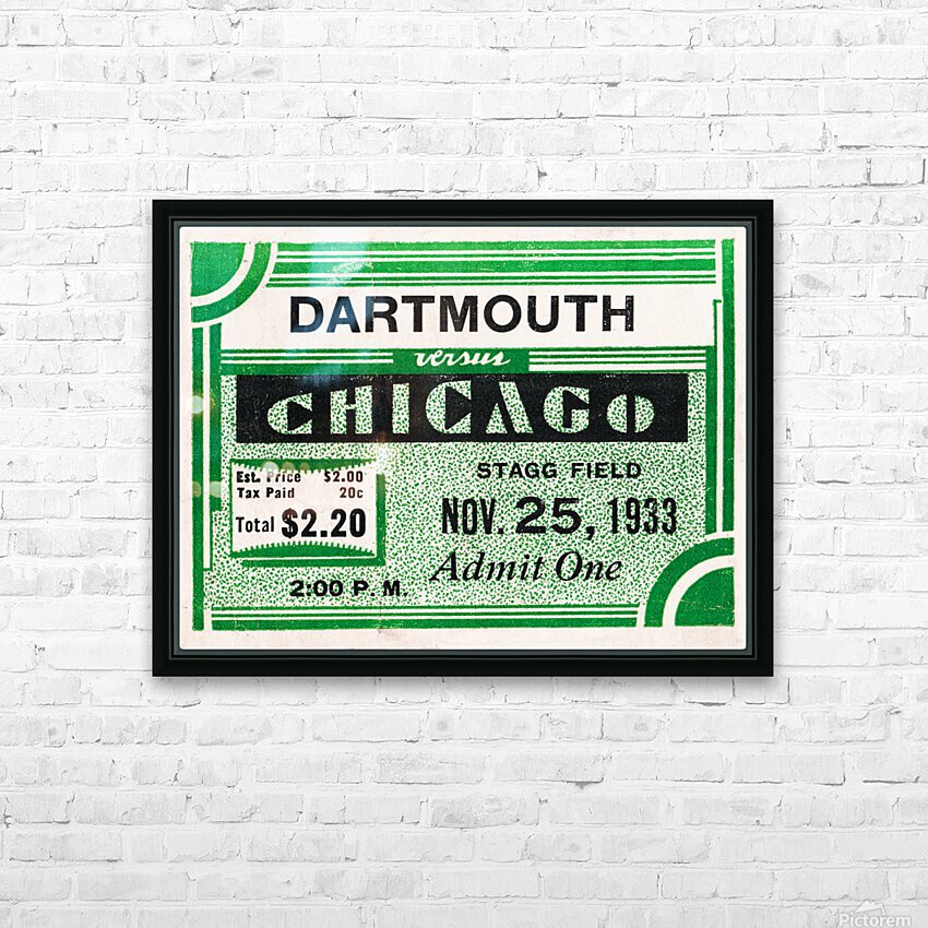 1933 Dartmouth Indians vs. Chicago Maroons HD Sublimation Metal print with Decorating Float Frame (BOX)