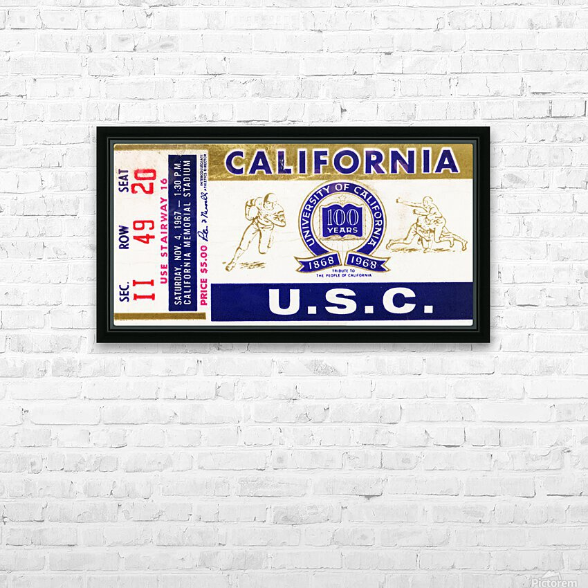 1967 California Bears vs. USC Trojans HD Sublimation Metal print with Decorating Float Frame (BOX)